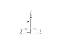 Handlauf T-Form mit Brausehalter, chrom, 115 x 42,5 x...