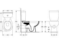 Spülrandloses Stand-WC mit Keramikspülkasten,...