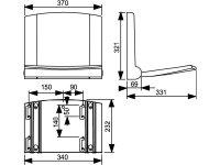 Duschklappsitz, 250 kg Belastbarkeit, mit Absenkautomatik