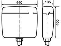 Kunststoffspülkasten, weiß