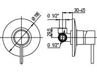 Duscharmatur Perex für Unterputz-Montage