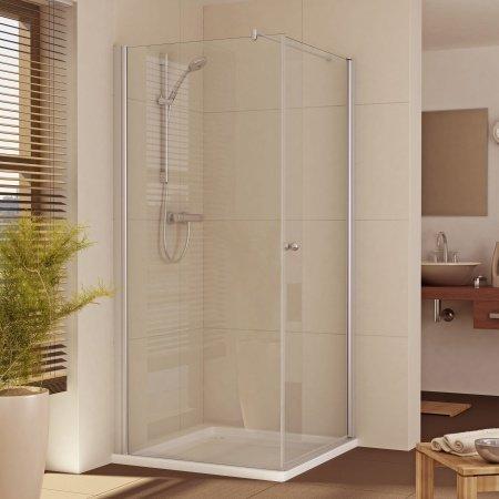 Duschkabine 1 Tür rechts + 1 feste Seite links 101-140 cm