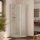 Fünfeck Duschkabine mit 2 Türen, 89x89x200 cm