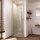Duschtür für Nischen mit Doppelpendeltür 101 bis 140 cm