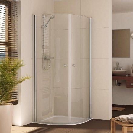 Viertelkreis Duschkabine mit 2 Türen