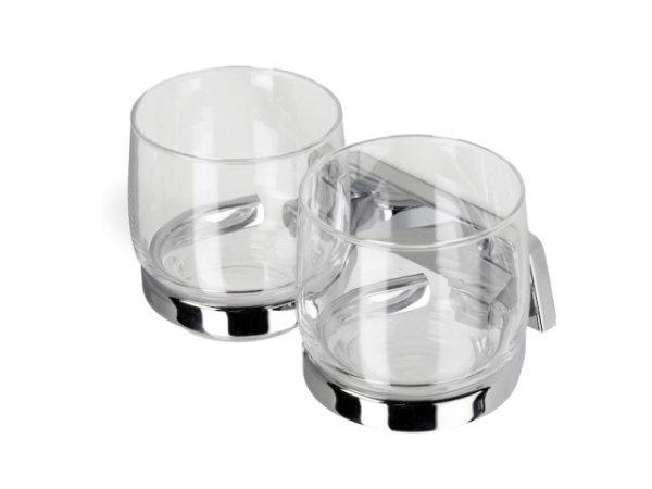 Doppelter Glashalter mit 2 Gläsern Hotel Collection