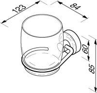 Zahnputzglas mit Halter Luna Kollektion