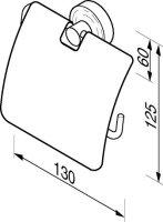 Toilettenpapierhalter mit Deckel Luna Kollektion