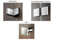 Viertelkreis-Duschkabine Atelier, 90 x 90 x 200 cm, 4-teilig