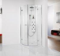 Viertelkreis-Duschkabine Softcube Premium, 90 x 90 x 200 cm, 4-teilig