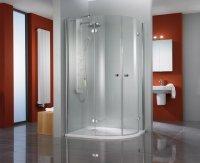 Viertelkreis-Duschkabine Premium Classic, 90 x 90 x 185 cm, 4-teilig