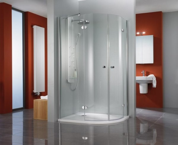 Viertelkreis-Duschkabine Premium Classic, 100 x 100 x 200 cm, 4-teilig