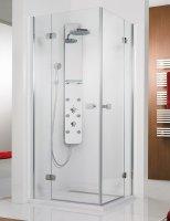 Eckeinstieg-Duschkabine Premium Softcube, 100 x 100 x 200 cm, 4-teilig