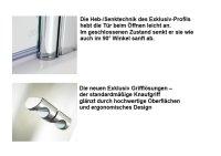 Eckeinstieg-Duschkabine Exklusiv, 90 x 90 x 200 cm, 2-teilig