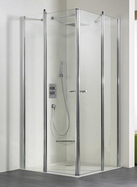 Eckeinstieg-Duschkabine Exklusiv, 90 x 90 x 185 cm, 4-teilig