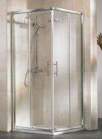Eckeinstieg-Duschkabine Favorit Nova, 90 x 90 x 185 cm