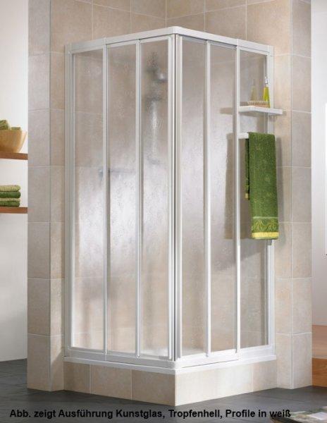 Eckeinstieg-Duschkabine Favorit, 90 x 90 x 185 cm, 3-teilig