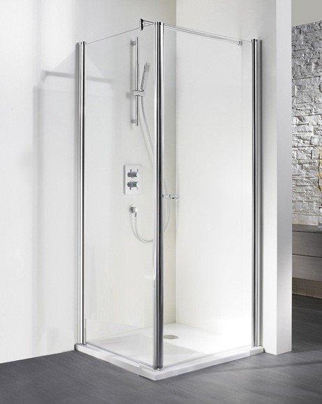 Eckeinstieg mit Drehtür+Seitenwand Exklusiv, 90 x 90 x 200 cm