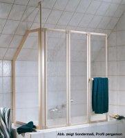 Badewannenaufsatz mit Seitenwand Prima, 126,8 cm, 3-teilig
