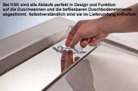 Rechteck Duschwanne mit Ablaufrinne super flach, 90 x 120 cm