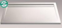 Rechteck Duschwanne mit Ablaufrinne super flach, 90 x 160 cm