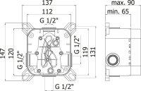 Duscharmatur Lando für Unterputz-Montage