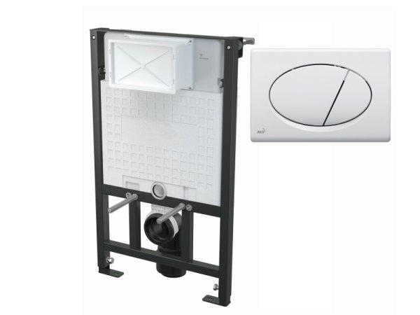 WC-Vorwandelement 850 mm mit Drückerplatte M70 weiß