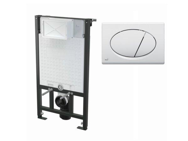 WC-Vorwandelement 1000 mm mit Drückerplatte M70 weiß