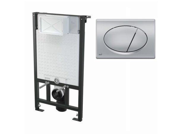 WC-Vorwandelement 1000 mm mit Drückerplatte M72 chrom-matt