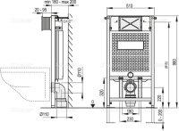 WC-Vorwandelement 1000 mm mit Drückerplatte M72...