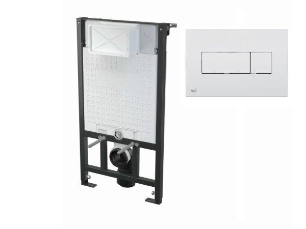 WC-Vorwandelement 1000 mm mit Drückerplatte M370 weiß