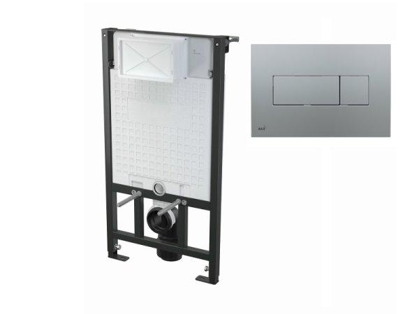 WC-Vorwandelement 1000 mm mit Drückerplatte M372 chrom-matt
