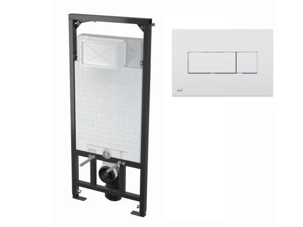WC-Vorwandelement 1200 mm mit Drückerplatte M370 weiß