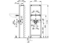 Vorwandmontage-Element Höhe 1200mm für Waschbecken