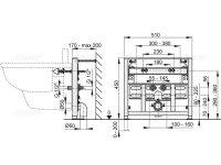 Vorwandmontage-Element für Bidet Höhe 450mm
