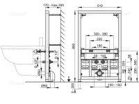 Vorwandmontage-Element für Bidet Höhe 850mm
