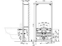 Vorwandmontage-Element für Bidet Höhe 1200mm