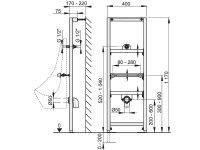 Vorwandmontage-Element für Urinal mit...