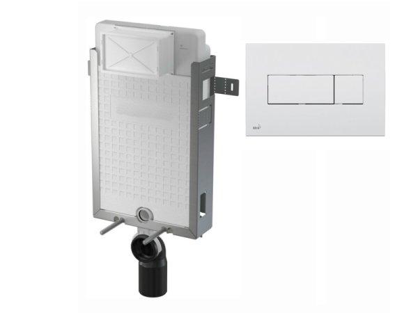 WC-Nassbau-Element 1000mm mit Drückerplatte M370 weiß
