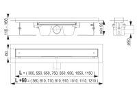 befliesbare Edelstahl-Bodenablaufrinne 950mm