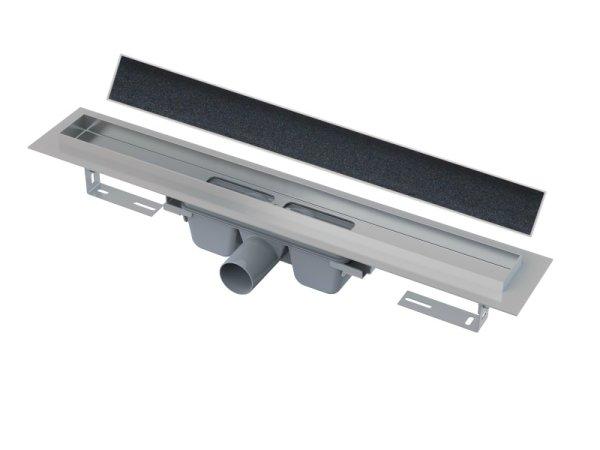befliesbare Edelstahl-Bodenablaufrinne (extra flach) 850mm