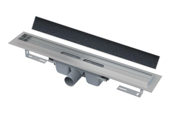 befliesbare Edelstahl-Bodenablaufrinne (extra flach) 950mm