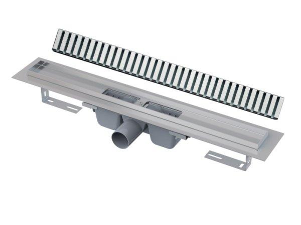 """Edelstahl-Bodenablaufrinne 850mm inkl. Edelstahlrost """"Line"""""""