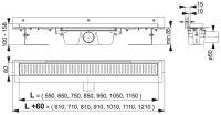 Edelstahl-Bodenablaufrinne 850mm inkl. Edelstahlrost...