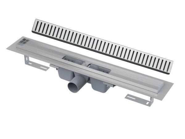 """Edelstahl-Bodenablaufrinne 850mm inkl. Edelstahlrost """"Pure"""""""