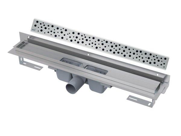 """Edelstahl-Bodenablaufrinne mit Wandflansch 950mm inkl. Edelstahlrost """"Buble"""""""