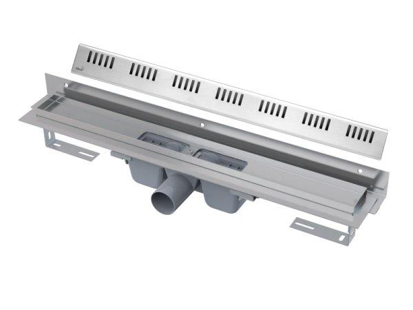 """Edelstahl-Bodenablaufrinne mit Wandflansch 750mm inkl. Edelstahlrost """"Dream"""""""