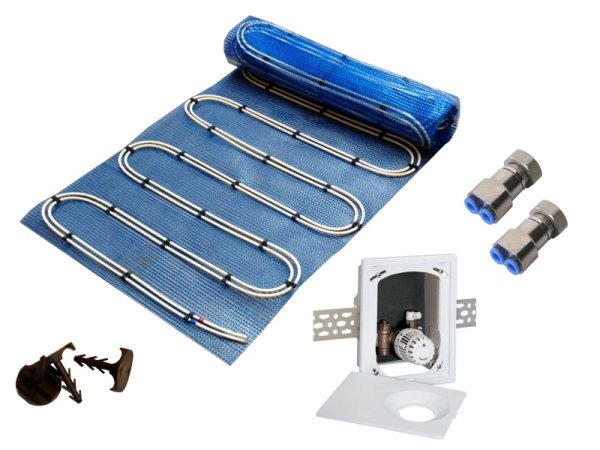2,5m² Warmwasser Fußbodenheizung AquaDur Plus Paket Multibox RTL