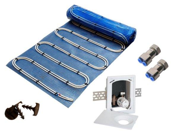7,5m² Warmwasser Fußbodenheizung AquaDur Plus Paket Multibox RTL