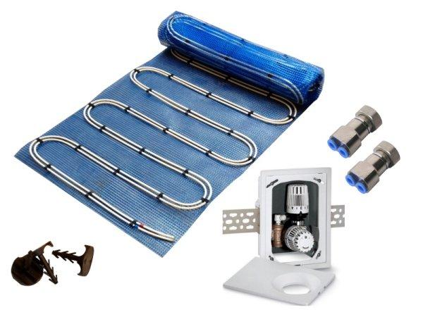 10,0m² Warmwasser Fußbodenheizung AquaDur Plus Paket Multibox K-RTL